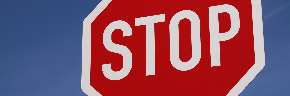 """Stop"" Road sign"